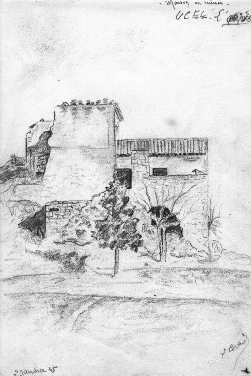 Maison En Ruine Dessin paysages ardeche - leopol cortial